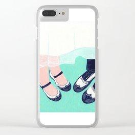Summer Wedding Clear iPhone Case
