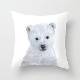 Little Polar Bear Throw Pillow