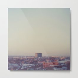 Morning Over Detroit Metal Print