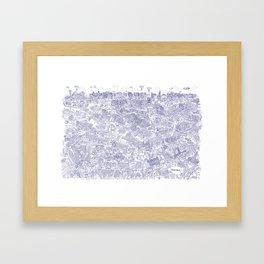 Illustrated map of Berlin-Mitte. Ink pen design Framed Art Print