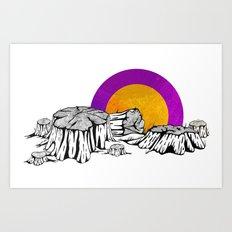 Broken Tree Art Print