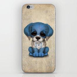 Cute Puppy Dog with flag of Honduras iPhone Skin