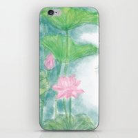lotus flower iPhone & iPod Skins featuring Lotus by marryweather