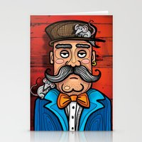 moustache Stationery Cards featuring Moustache by Manouk van Eesteren