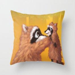 Raccoon Series: Lil' Pup Throw Pillow