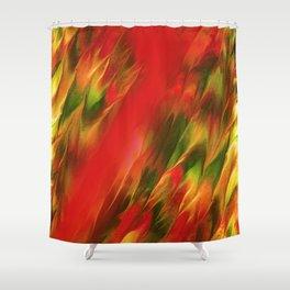 Melting in red / Sciogliersi nel rosso Shower Curtain
