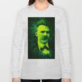 Friedrich Nietzsche watercolor Long Sleeve T-shirt