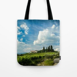 Sunset in the vineyards of Rosazzo Tote Bag