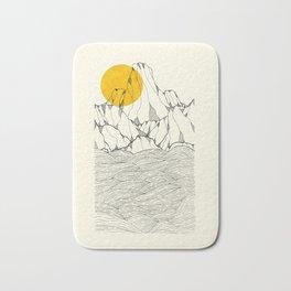 Sun and sea cliffs Bath Mat