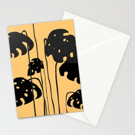 gold and black leaves Stationery Cards