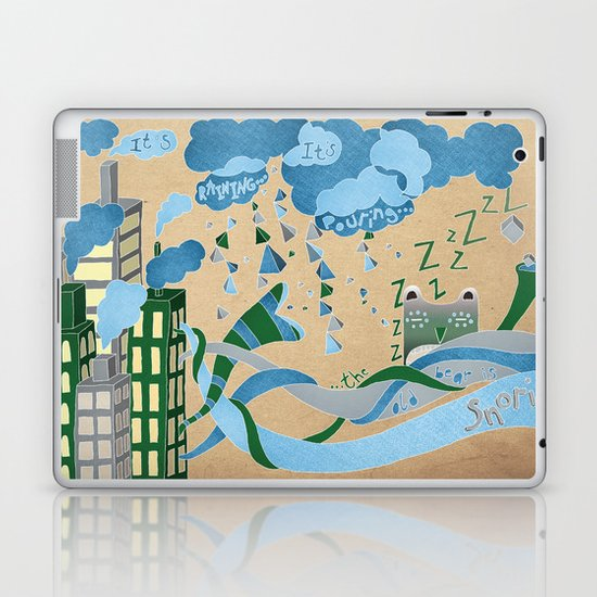 It's Raining its pouring Laptop & iPad Skin