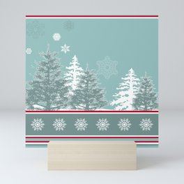 Winter scene Mini Art Print