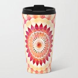 Rainbow Swirls Flower Kaleidoscope Travel Mug