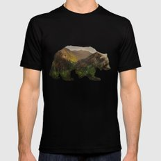 North American Brown Bear Mens Fitted Tee Black 2X-LARGE