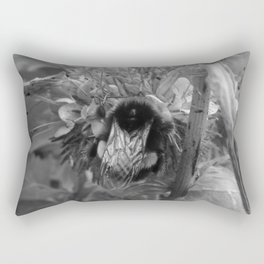 Bee Friends #2 (Black and White) Rectangular Pillow