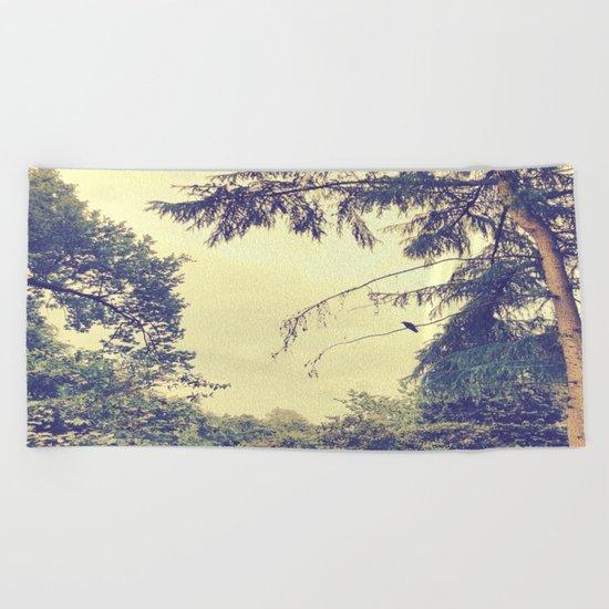 Memory of a Hazy Morning Beach Towel