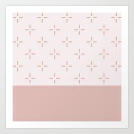 Crema Blush Art Print