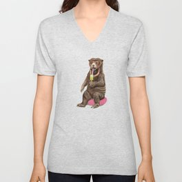 Sun Bear - a Summer Bear 2013 Unisex V-Neck