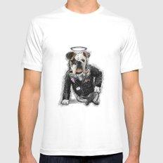Bad Dog Mens Fitted Tee MEDIUM White