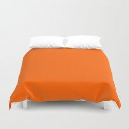 Solid Orange Duvet Cover