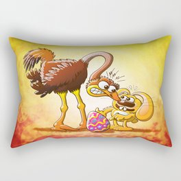 Ambitious Easter Bunny Rectangular Pillow