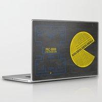 pac man Laptop & iPad Skins featuring Pac-Man Typography by Kody Christian