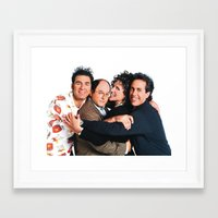 seinfeld Framed Art Prints featuring Seinfeld by Frank Deuce