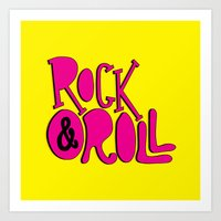 rock and roll Art Prints featuring Rock & Roll by Chelsea Herrick