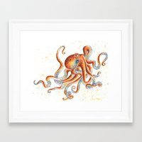 octopus Framed Art Prints featuring Octopus by Patrizia Ambrosini