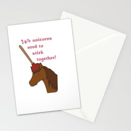 Unicorns need to stick together Stationery Cards