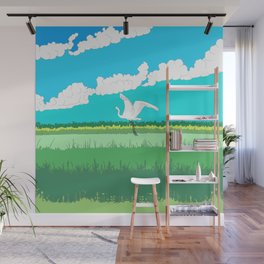 One bird beautifully flying Wall Mural