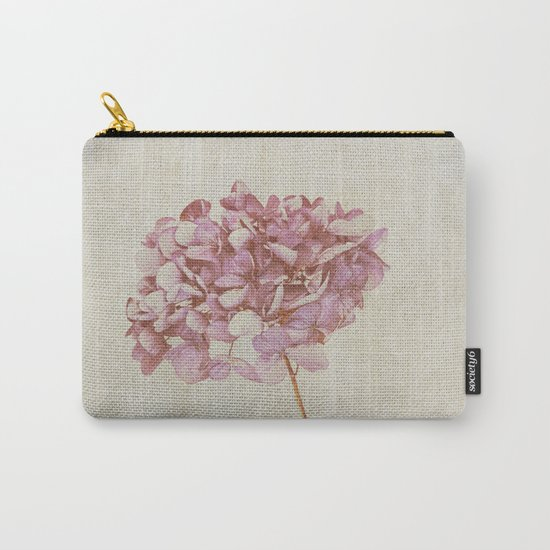 Pink Vintage Hydrangea Carry-All Pouch