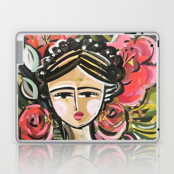 "Portrait ""Mexican Girl"" Face art Laptop & iPad Skin"