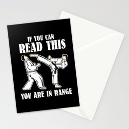If You Can Read This You Are In Range | Martial Arts Stationery Cards