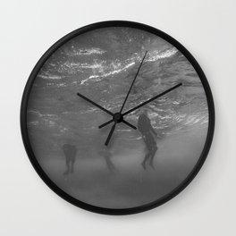 Lifeless Bodies Drown (Black and White) Wall Clock
