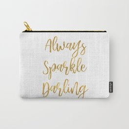 Gold Always Sparkle Darling Carry-All Pouch