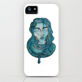 A Day in Blue iPhone Case