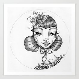 JennyMannoArt Graphite Illustration/Victoria Art Print