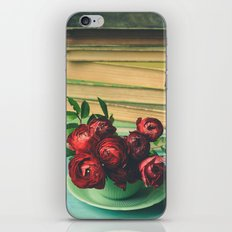 Books and Flowers iPhone Skin