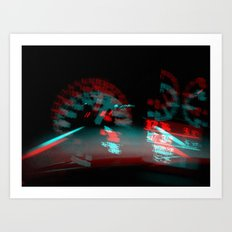 degenerated speed Art Print