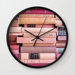 Vintage Pink Stacks Wall Clock