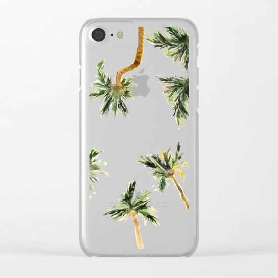Under the coconut palms Clear iPhone Case