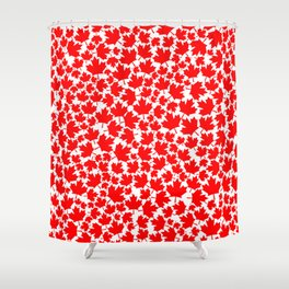 Canadian fall / Canadian flag maple leaf pattern Shower Curtain
