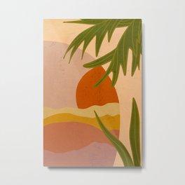 Terracotta Sunset Metal Print