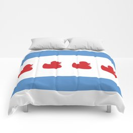 Chicago Flag - Duckies  Comforters