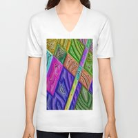 agate V-neck T-shirts featuring Agate by RingWaveArt