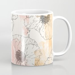 Watercolor Poppies Seamless Print Coffee Mug