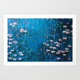 Water lilies in Venice Art Print