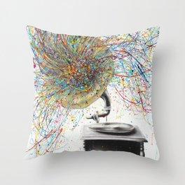 Sight of Sound Throw Pillow