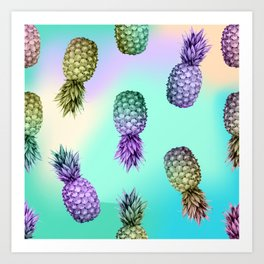 Pineapple Glow Art Print
